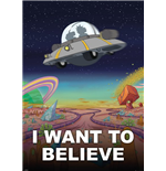 Rick and Morty Giant Poster - I Want To Believe - 100x140 Cm