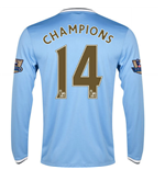 2013-14 Man City Home Long Sleeve Shirt (Champions 14)