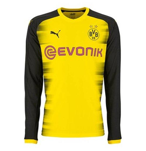 3b397245a Buy 2017-2018 Borussia Dortmund UCL Long Sleeve Home Puma Shirt (Kids)