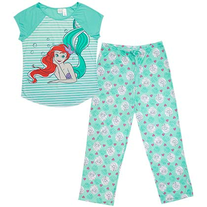 The Little Mermaid Women's Shirt And Pants Pajamas Set