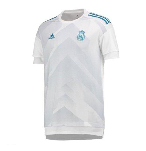 reputable site 4c205 85334 2017-2018 Real Madrid Adidas Pre-Match Training Shirt (White)