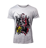 MARVEL COMICS Avengers: Infinity War Men's Characters T-Shirt, Extra Large, Grey
