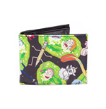 RICK AND MORTY Characters All-over Print Bi-fold Wallet, Multi-colour