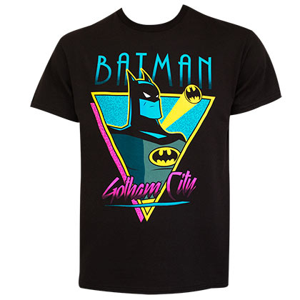 BATMAN Retro Gotham City Black Tee Shirt
