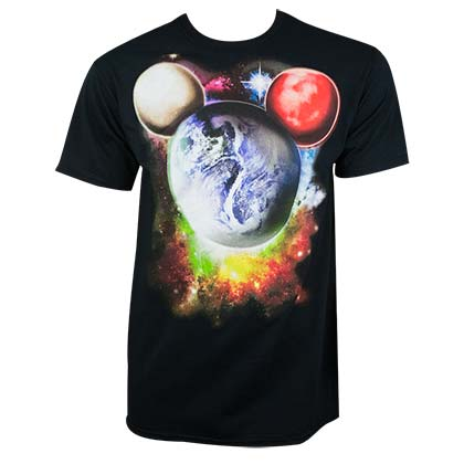 Mickey Mouse Planet Mickey Glow In The Dark Black Tee Shirt