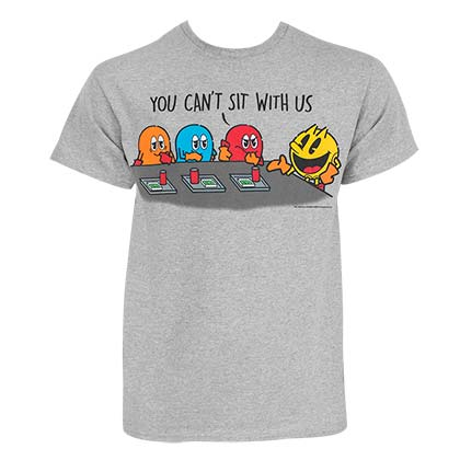 PAC-MAN You Can't Sit With Us Grey Tee Shirt
