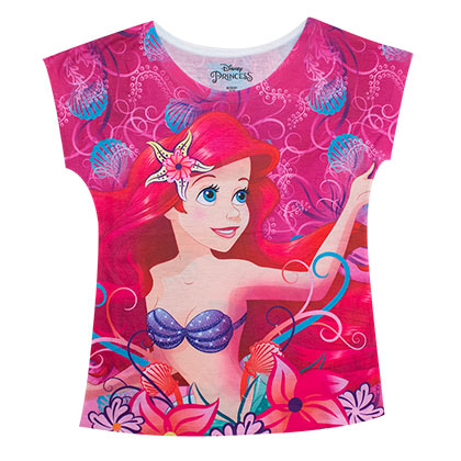 The Little Mermaid Ariel Youth Flower Tee Shirt