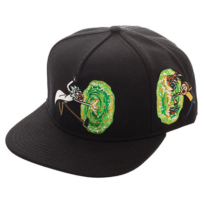 Rick And Morty Black Portal Snapback Hat