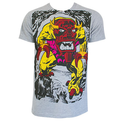 Marvel Comics Mangog Grey Tee Shirt