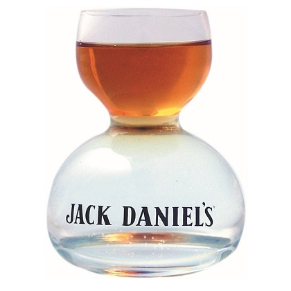 JACK DANIELS Whiskey On Water Shot Glass