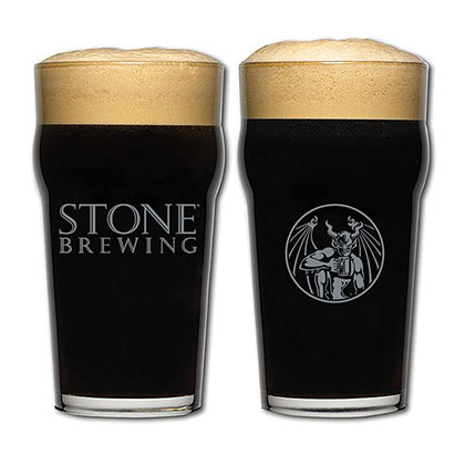 STONE BREWING CO. Imperial Pint Glass