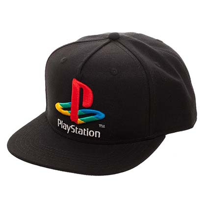 PLAYSTATION Logo Black Snapback Hat