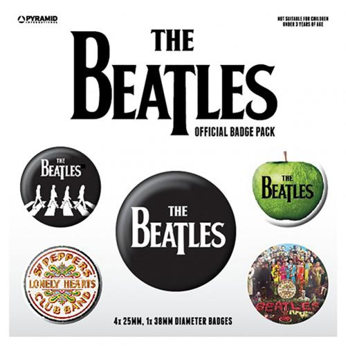 The Beatles Button Badge Set
