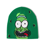 RICK AND MORTY Pickle Rick Face Cuffless Beanie, Green