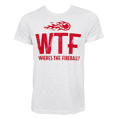FIREBALL WHISKEY WTF Logo Heather Grey Tee Shirt