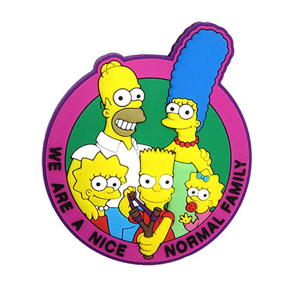 The SIMPSONS Soft Touch Family Magnet