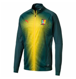 2018-2019 Cameroon Puma Stadium Jacket (June Bug)