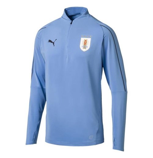 2018-2019 Uruguay Puma Quarter Zip Training Top (Blue)