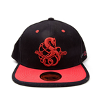 GOD OF WAR 3D Embroidered Logo Snapback Baseball Cap, Black/Red