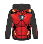 MARVEL COMICS Iron Man Men's Sublimation Full Length Zipper Hoodie, Medium, Multi-colour