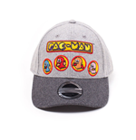 PAC-MAN Embroidered Ghosts Curved Bill Cap, Grey