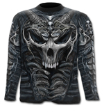 Skull Armour - Allover Longsleeve T-Shirt Black