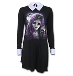Goth Doll - PeterPan Collar Baby Doll LS Dress
