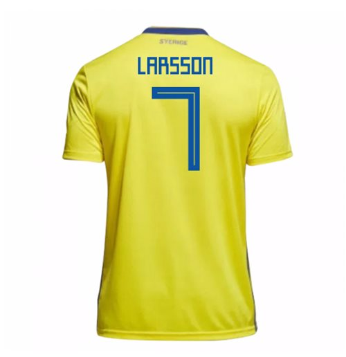 2018-19 Sweden Home Shirt (Larsson 7) - Kids