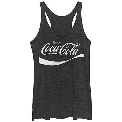 COCA-COLA Flip it and Reverse It Black Juniors Womens Tank Top