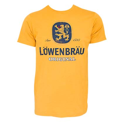 LOWENBRAU Logo Yellow Tee Shirt