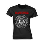 Ramones T-shirt Red Text Seal Logo