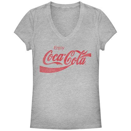COCA-COLA Straight Up Gray Juniors T-Shirt