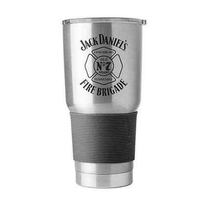 Jack Daniel's Fire Brigade Old No. 7 30oz Stainless Steel Travel Mug