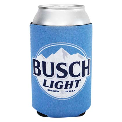 BUSCH Light Logo Blue Neoprene Can Cooler Holder