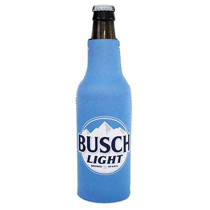 BUSCH Light New Logo Blue Beer Bottle Suit Cooler Holder