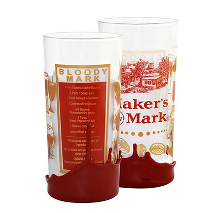 MAKER'S MARK Bloody Mary Recipe Wax Dipped High Ball Drinking Glass