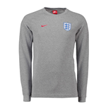2018-2019 England Nike Authentic Modern Crew Sweater (Grey)