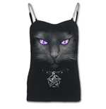 Black Cat - Adjustable Chain Camisole Top Black