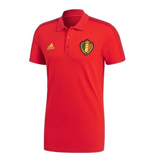 64a95b8ae9 2018-2019 Belgium Adidas 3S Polo Shirt (Red)