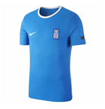 2018-2019 Greece Nike Core Crest Tee (Blue)