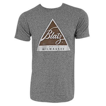 BLATZ Logo Retro Brand Men's Gray TShirt