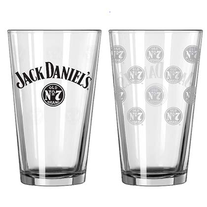 Jack Daniel's Old No. 7 Mini Logos Drinking Pint Glass