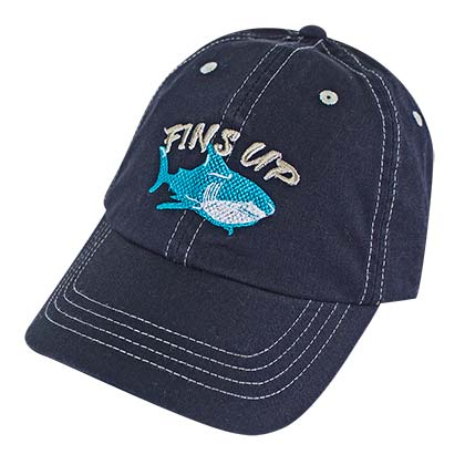 LANDSHARK Fins Up Margaritaville Navy Blue Adjustable Hat