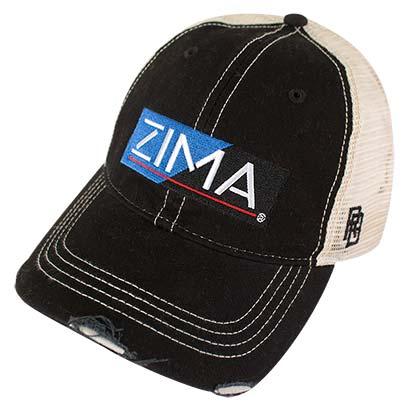 2445d1bda9d ZIMA Clearmalt Logo Retro Brand Mesh Black Trucker Hat