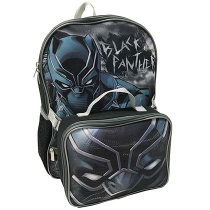 BLACK PANTHER Backpack and Detachable Lunch Kit