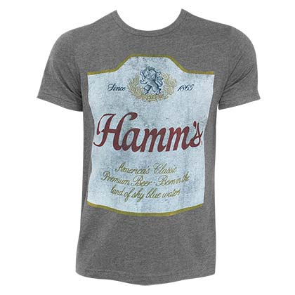 HAMM'S Hugger Label Heather Grey TShirt