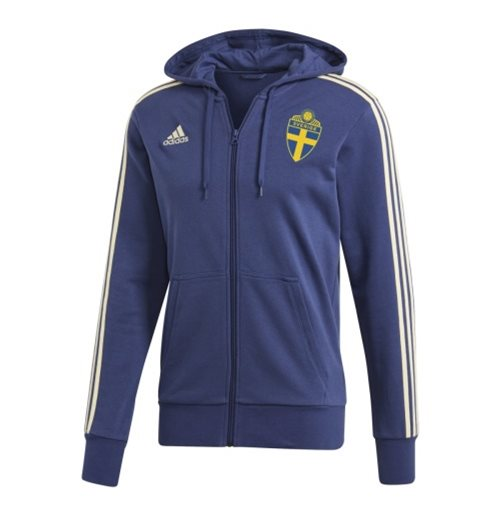 2018-2019 Sweden Adidas 3S Full Zip Hoody (Noble Indigo)