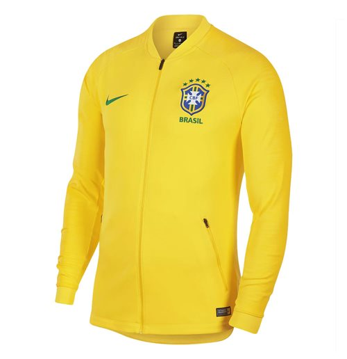 2018-2019 Brazil Nike Anthem Jacket (Yellow)