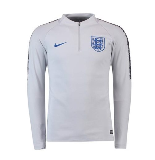 2018-2019 England Nike Training Drill Top (Grey) - Kids