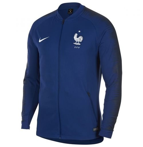 2018-2019 France Nike Anthem Jacket (Deep Royal)